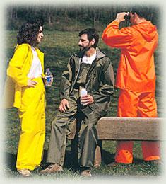 Solid Color Bib Style Pants Kool Dri Rainwear